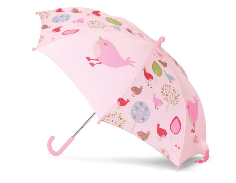 umbrella chirpy bird
