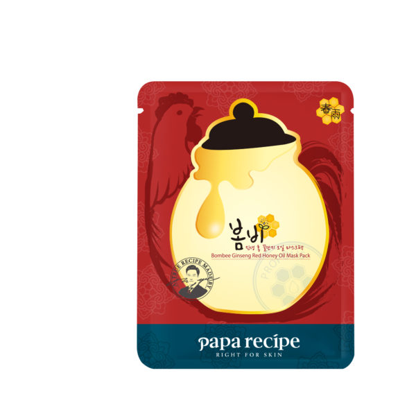(HR) Papa recipe_Bombee Ginseng Red Honey Oil Mask Pack (Pouch)