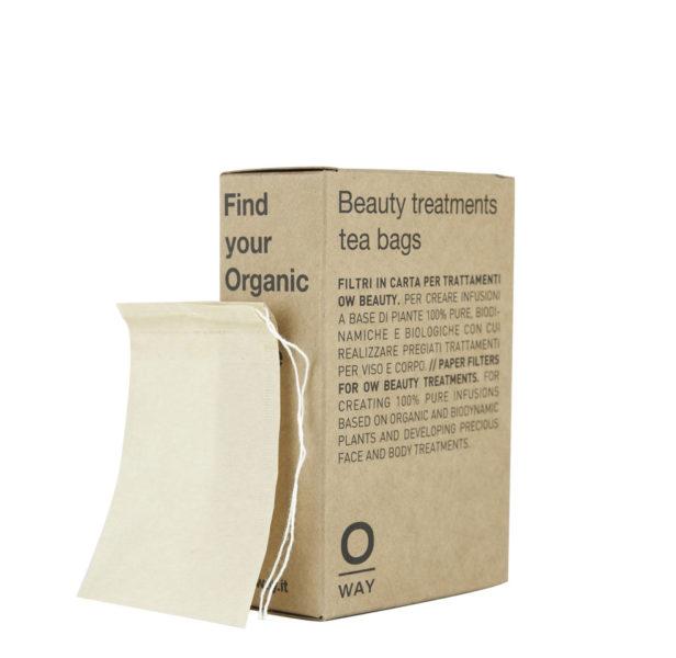 OWAY BEAUTY TREATMENTS TEA BAGS Malā pap°rovā filtrovac° s†üky pro bylinnā smōsi 234K¨