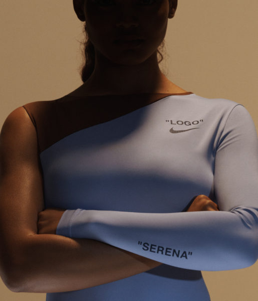 Nike x Virgil Abloh for Serena Williams day dress logos