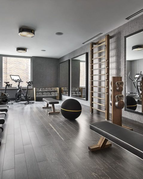 Luxury Fitness Home Gym Equipment and for Personal Studio_ Dumbbells, Wal Bar, Exercise bench and kettlebells_